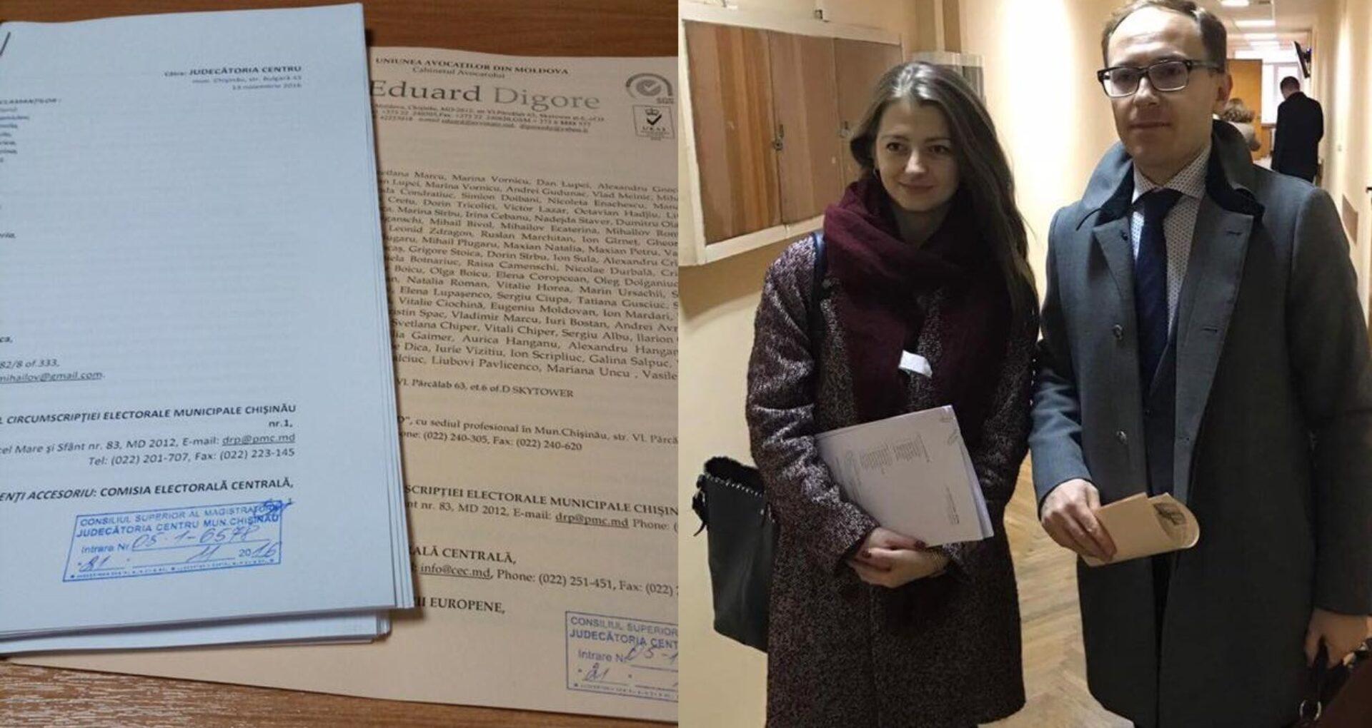 (FOTO) Avocații diasporei au depus două cereri de chemare în judecată a CEC-ului