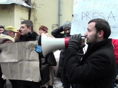 (VIDEO) Flashmob în susținerea jurnaliștilor de la JurnalTV