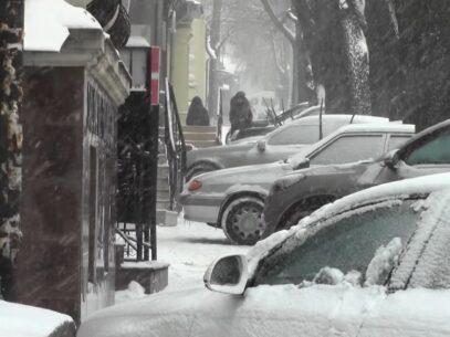 (VIDEO) Șoferul către polițist: Unde vedeți aici trotuar?