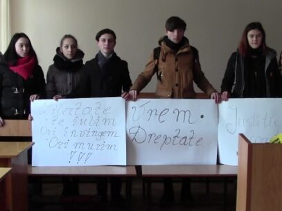 (VIDEO) Amendat pentru blocarea străzii la protest, Vlad Bilețchi se consideră nevinovat