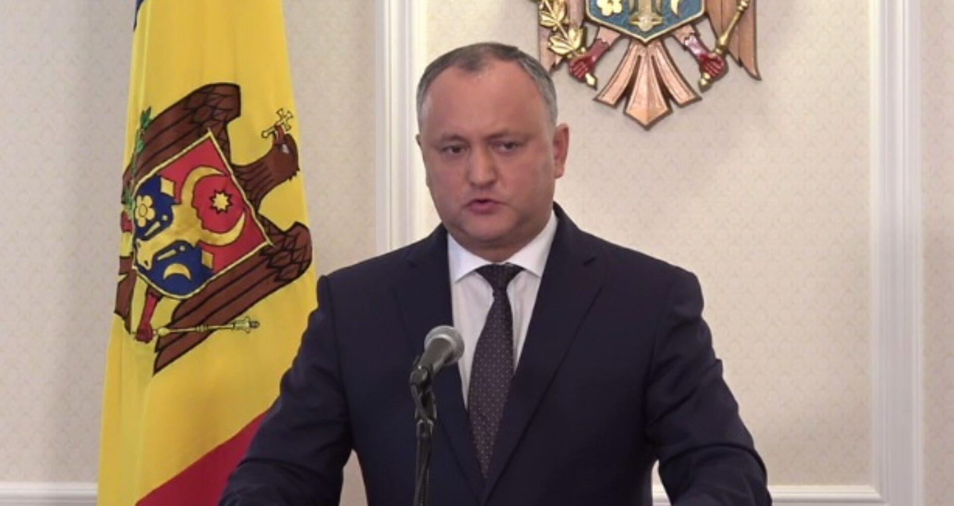 Reacția lui Dodon după învestirea lui Eugen Sturza în funcția de ministru al Apărării