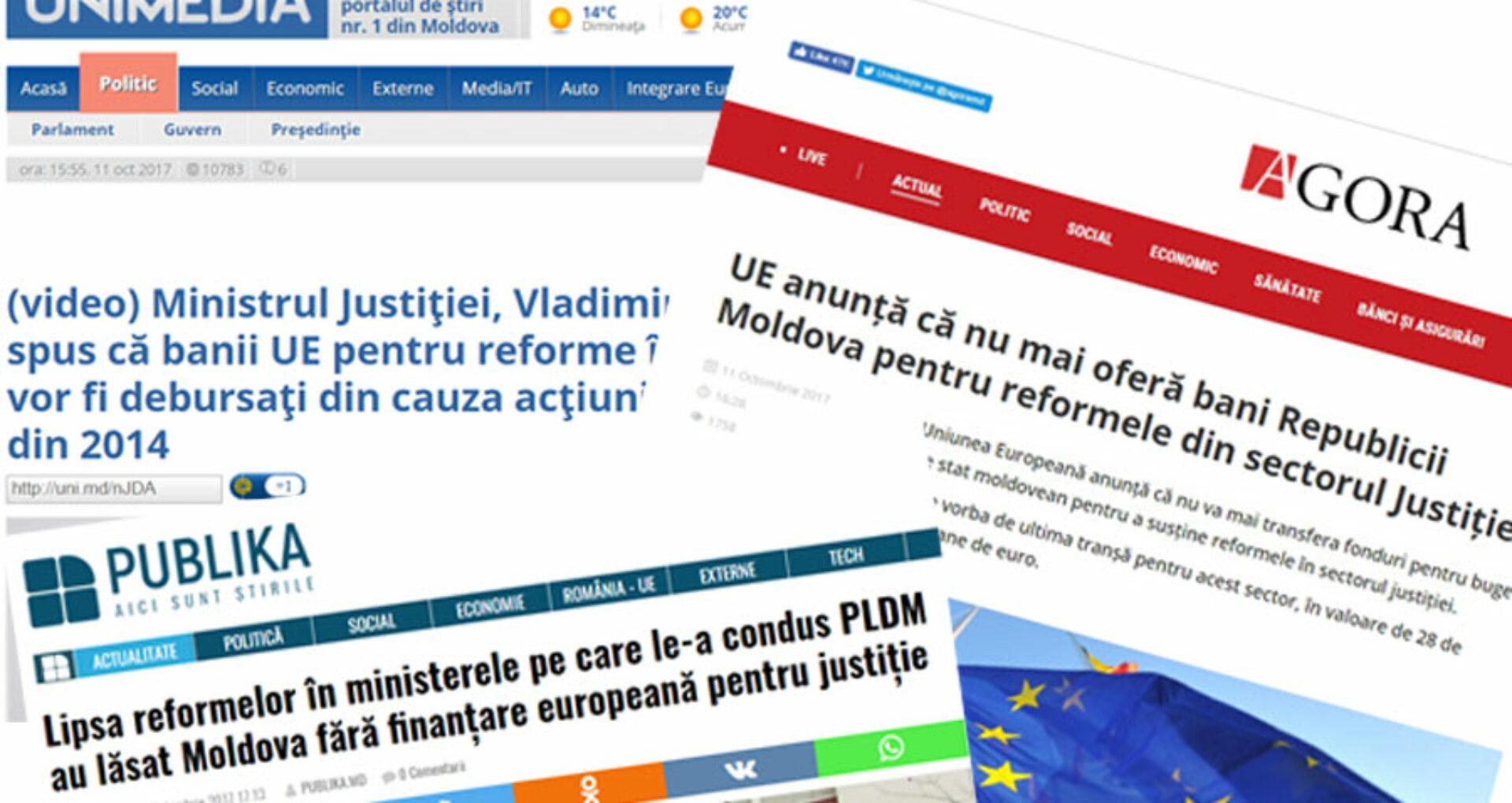 Suspendarea finanţării europene  mediatizată eronat în presă