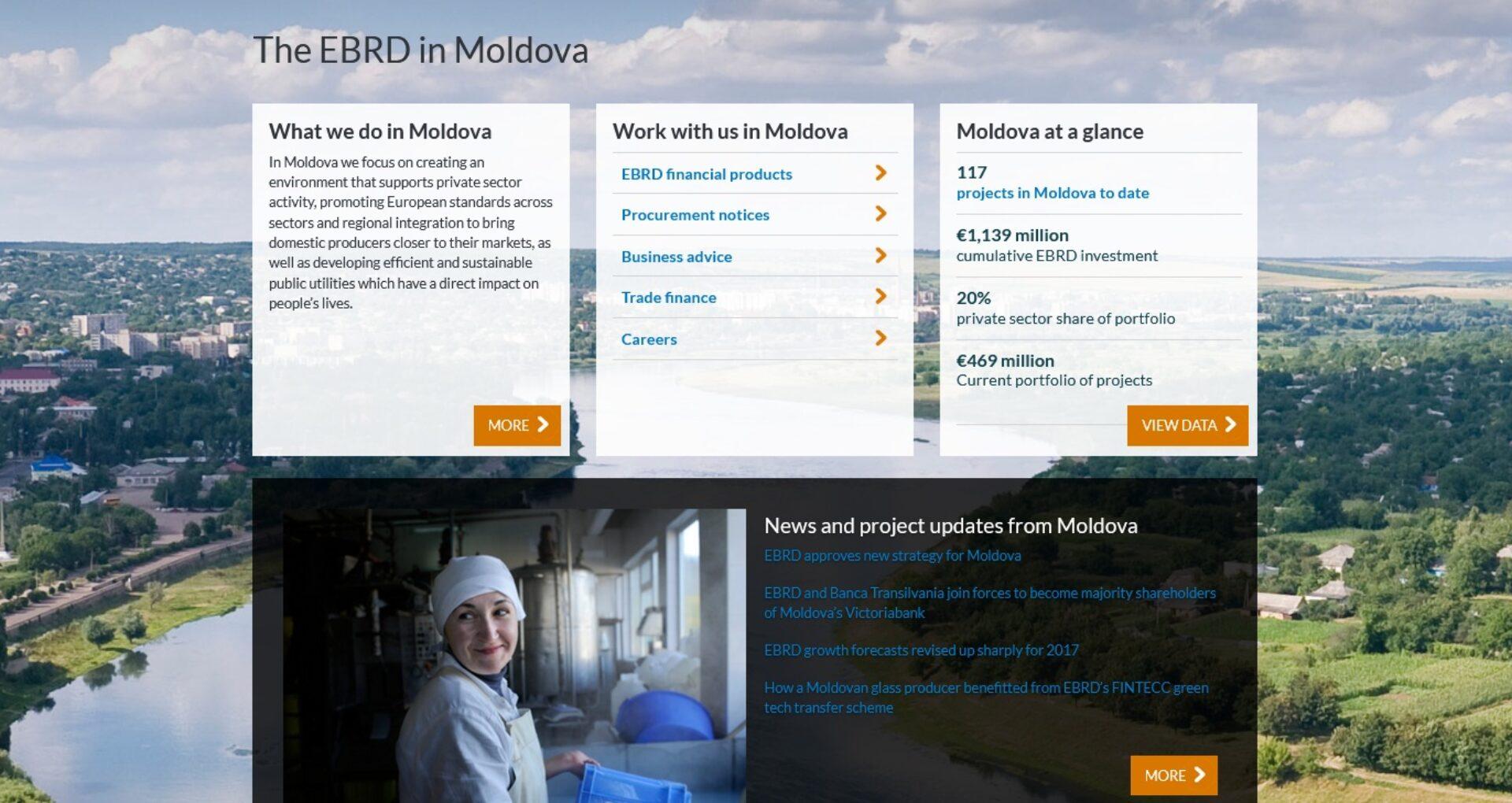 O nouă strategie BERD în Moldova: restructurarea sectorului bancar și transparența finanțelor publice