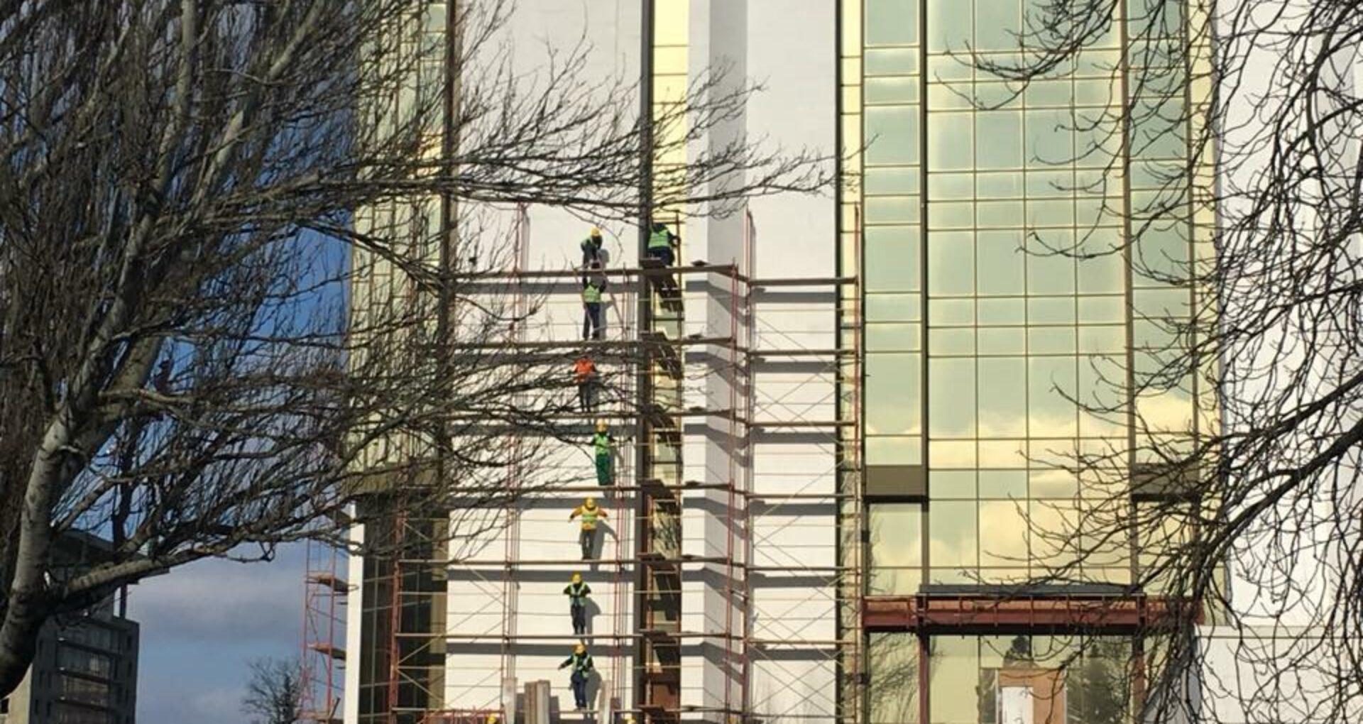 A început reparația clădirii Președinției
