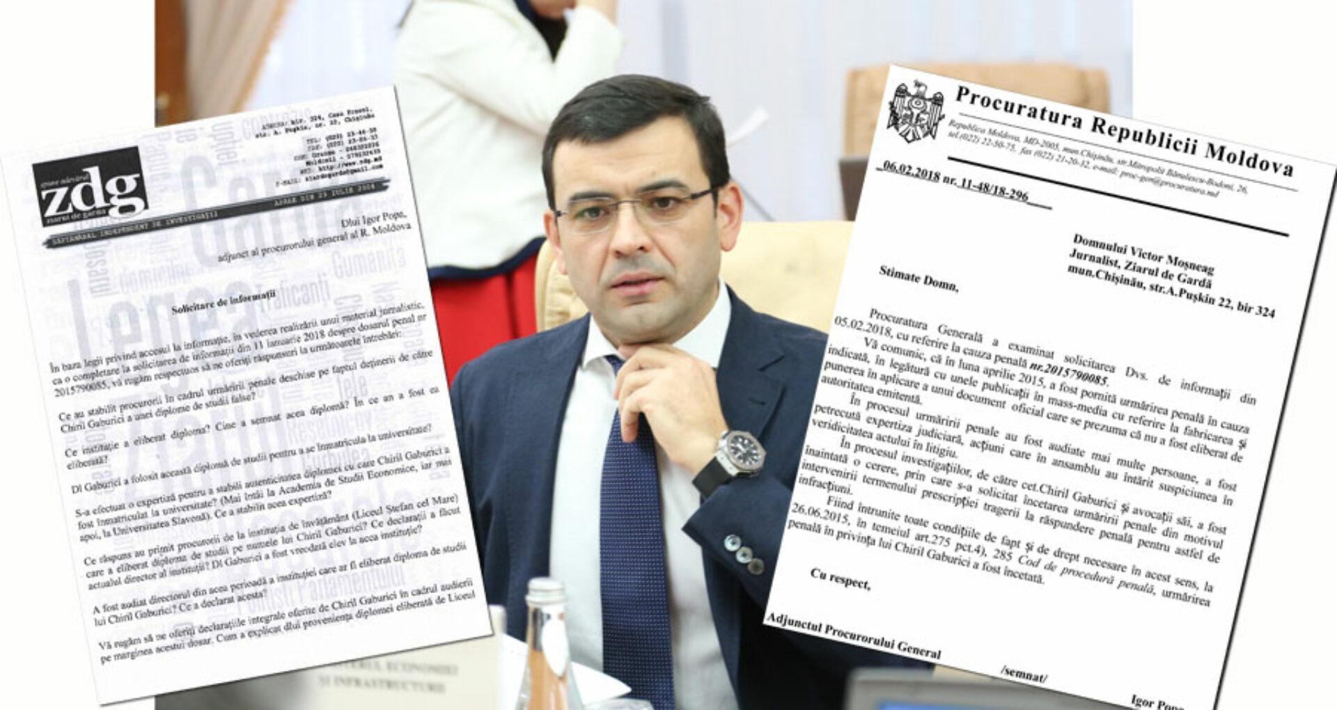 """(Video) Procuratura Generală îl protejează pe Gaburici, iar ministrul """"driblează""""  discuţiile despre studiile sale"""