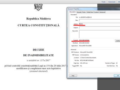 (doc) Decizia din decembrie a Curții Constituționale a fost scrisă pe 29 ianuarie