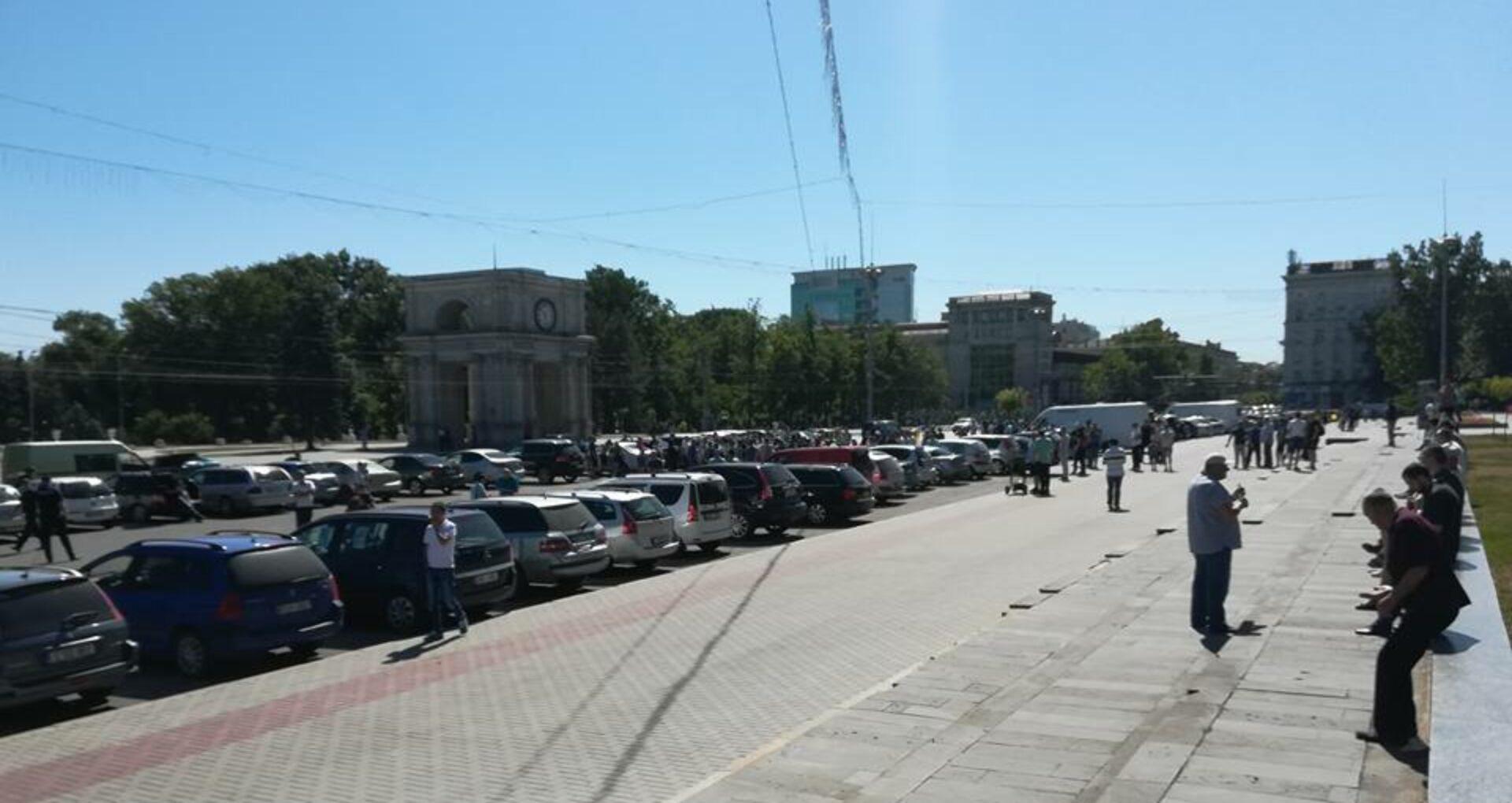 (video/foto) Protest în PMAN împotriva majorării prețurilor la carburanți