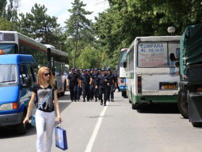 FOTOREPORTAJ/ Polițiștii și protestatarii în 10 imagini