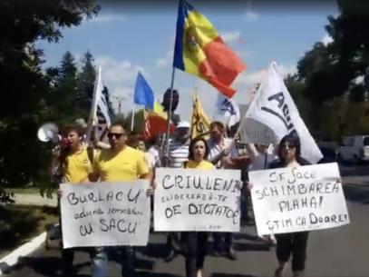 """Protest al """"Mișcării de Rezistență ACUM"""" la Criuleni: """"Acest regim are foarte multe elemente de regim dictatorial"""""""