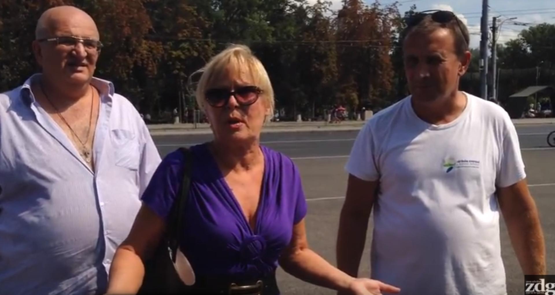 VIDEO/ Ce spun Maia Laguta și Aurel Bucureanu despre prezența susținătorilor lui Ilan Șor în PMAN