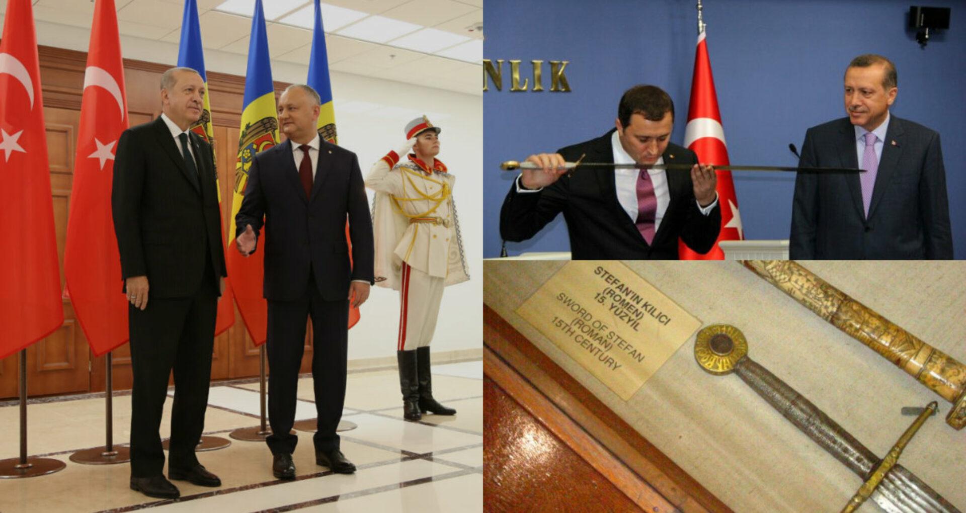 Deși avem o replică a sabiei lui Ștefan cel Mare la Cetatea Sorocii, Dodon îi mai cere una lui Erdogan