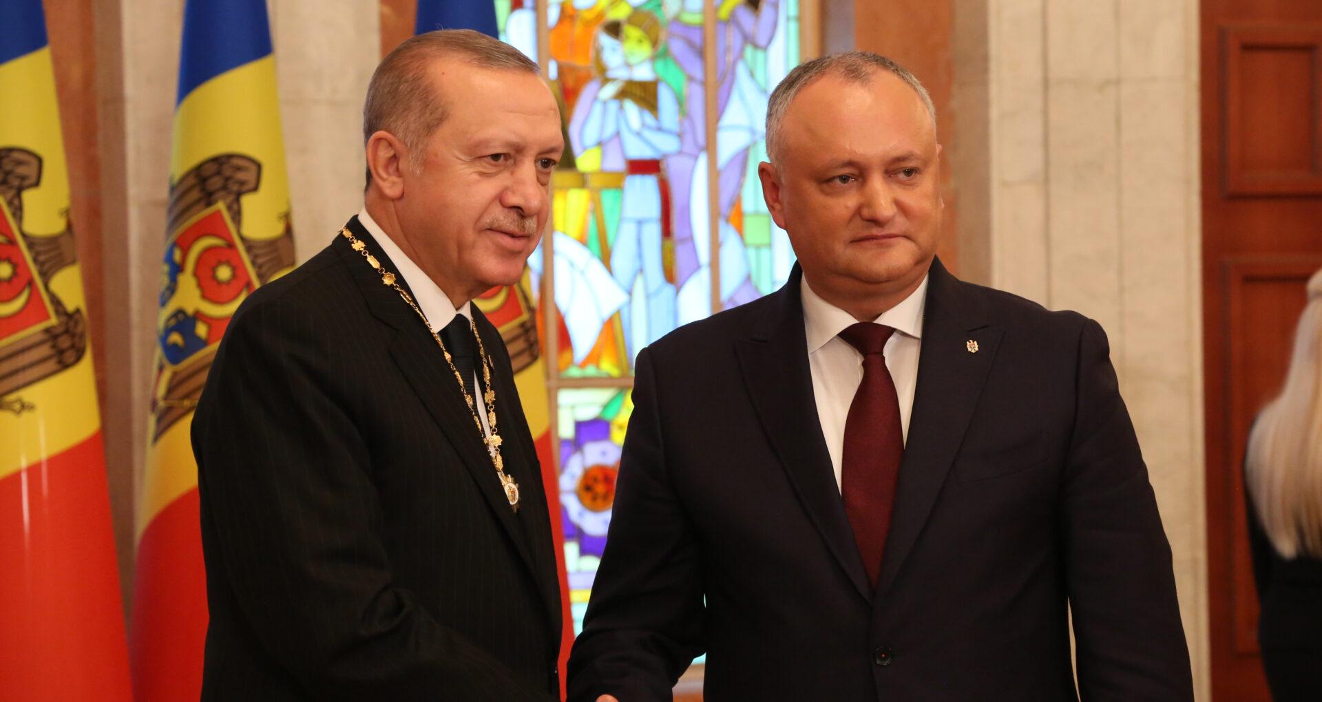 Cronologia relației dintre Dodon și Erdogan: de la vacanța oferită cadou, la Ordinul Republicii