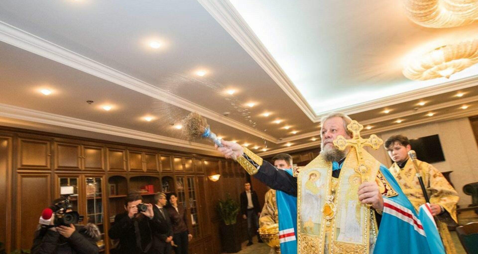 FOTO, VIDEO/ Clădirea renovată a Președinției a fost sfințită de Mitropolitul Vladimir