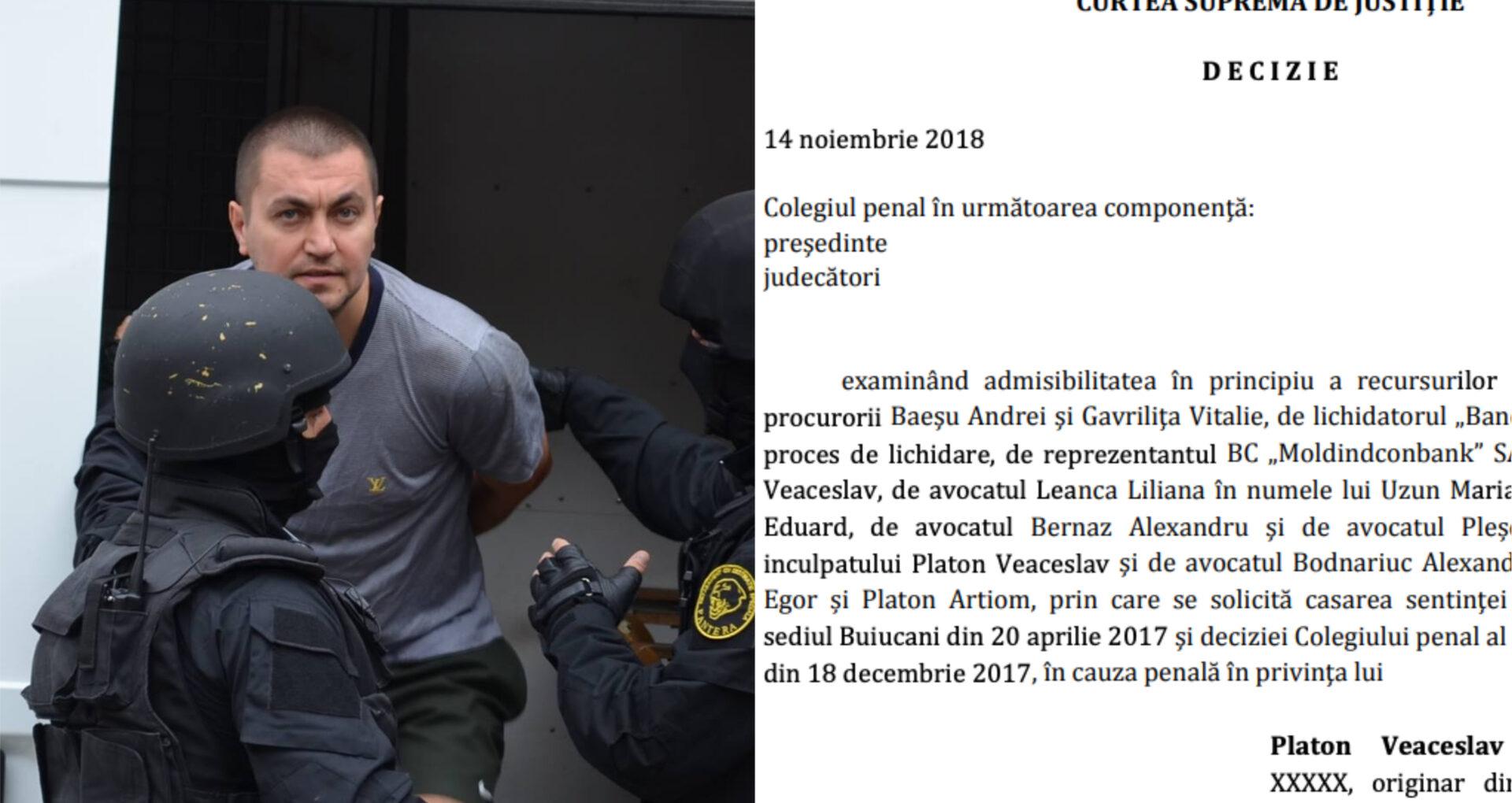 """144 de pagini """"necenzurate"""" în dosarul cu 18 ani de închisoare pe numele lui Veaceslav Platon"""