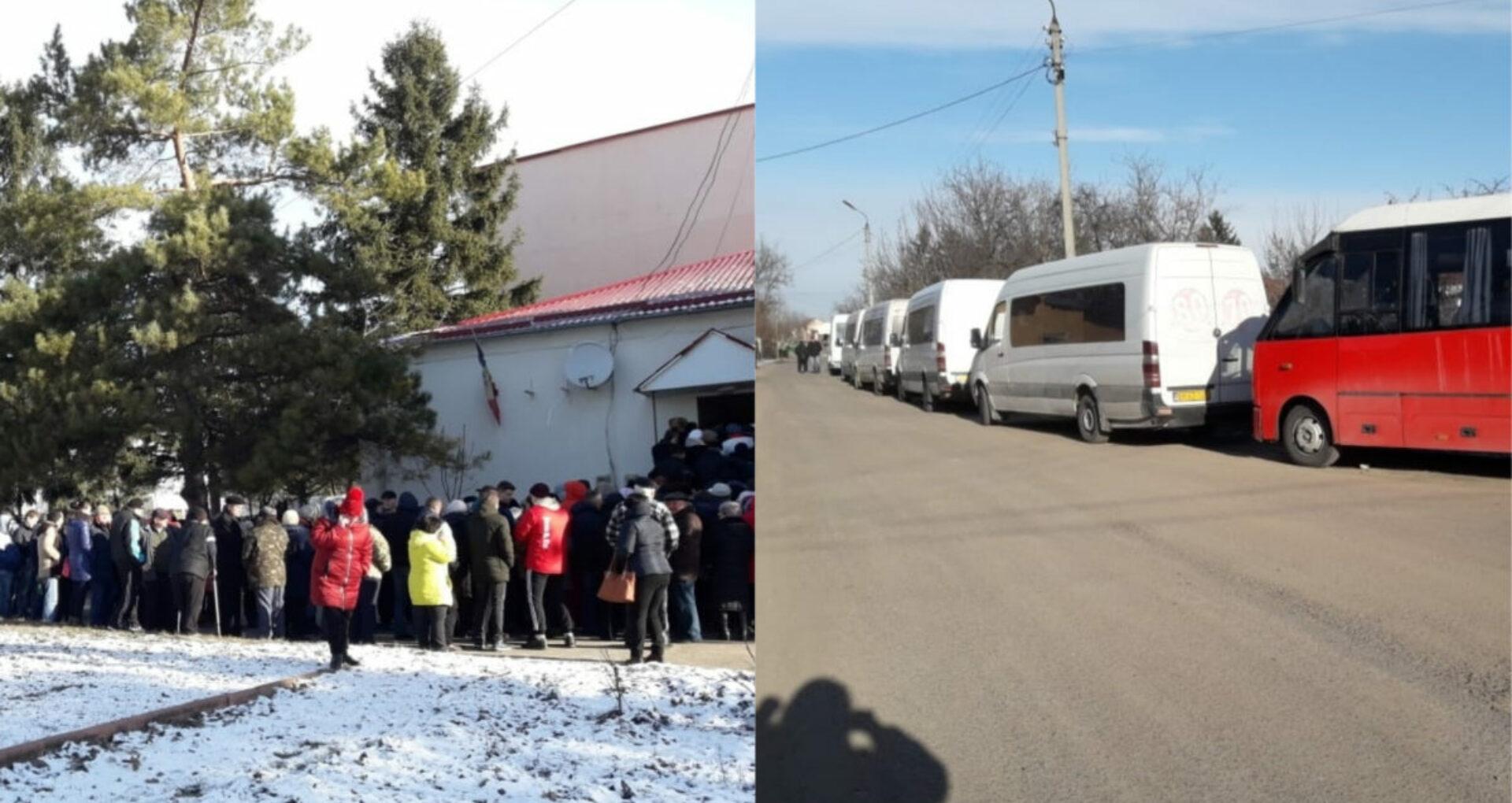 """FOTO/ VIDEO. Încă o secție de votare, """"luată cu asalt"""" de cetățenii din regiunea transnistreană"""