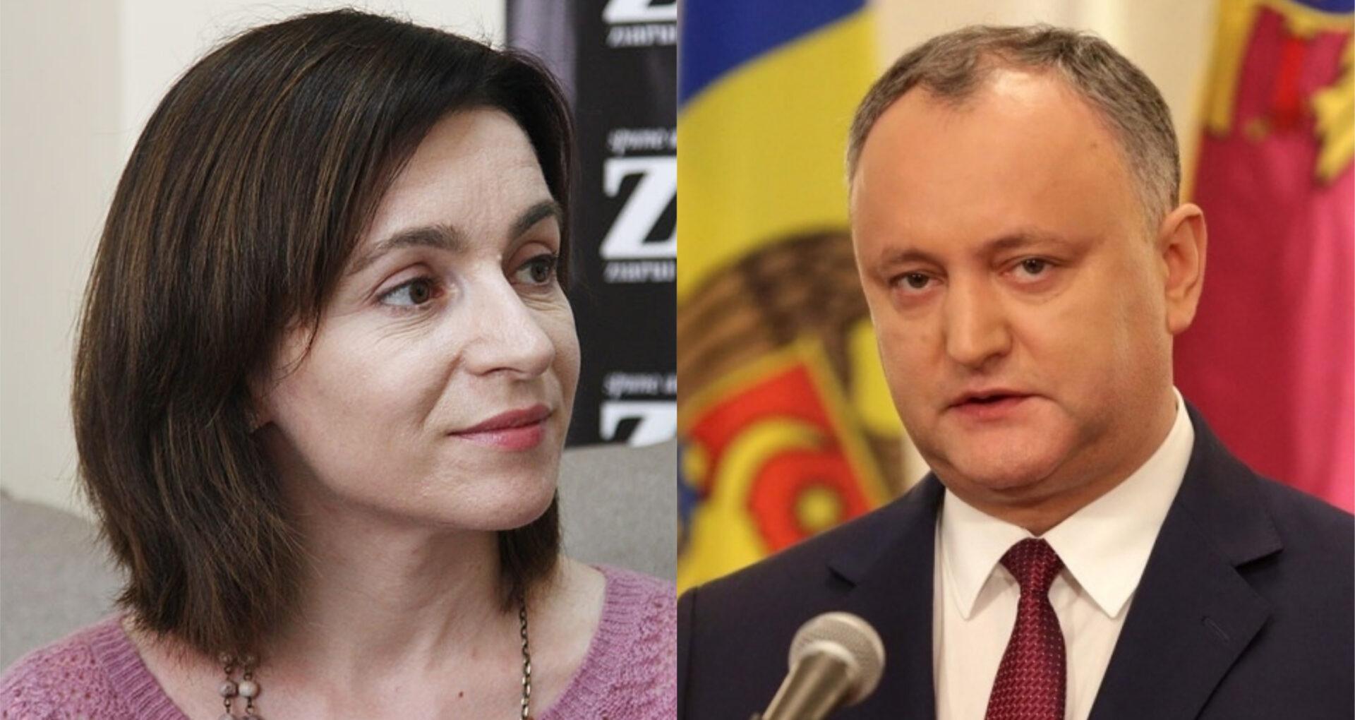 Sondaj BOP: Maia Sandu și Igor Dodon au cele mai mari şanse să ajungă în turul al doilea al alegerilor prezidențiale