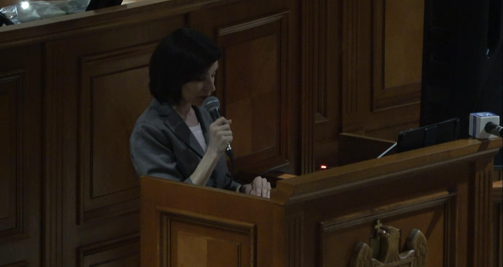 """Primul discurs al Maiei Sandu din funcția de premier: """"Nu putem fi siguri de durata mandatului acestui guvern"""""""