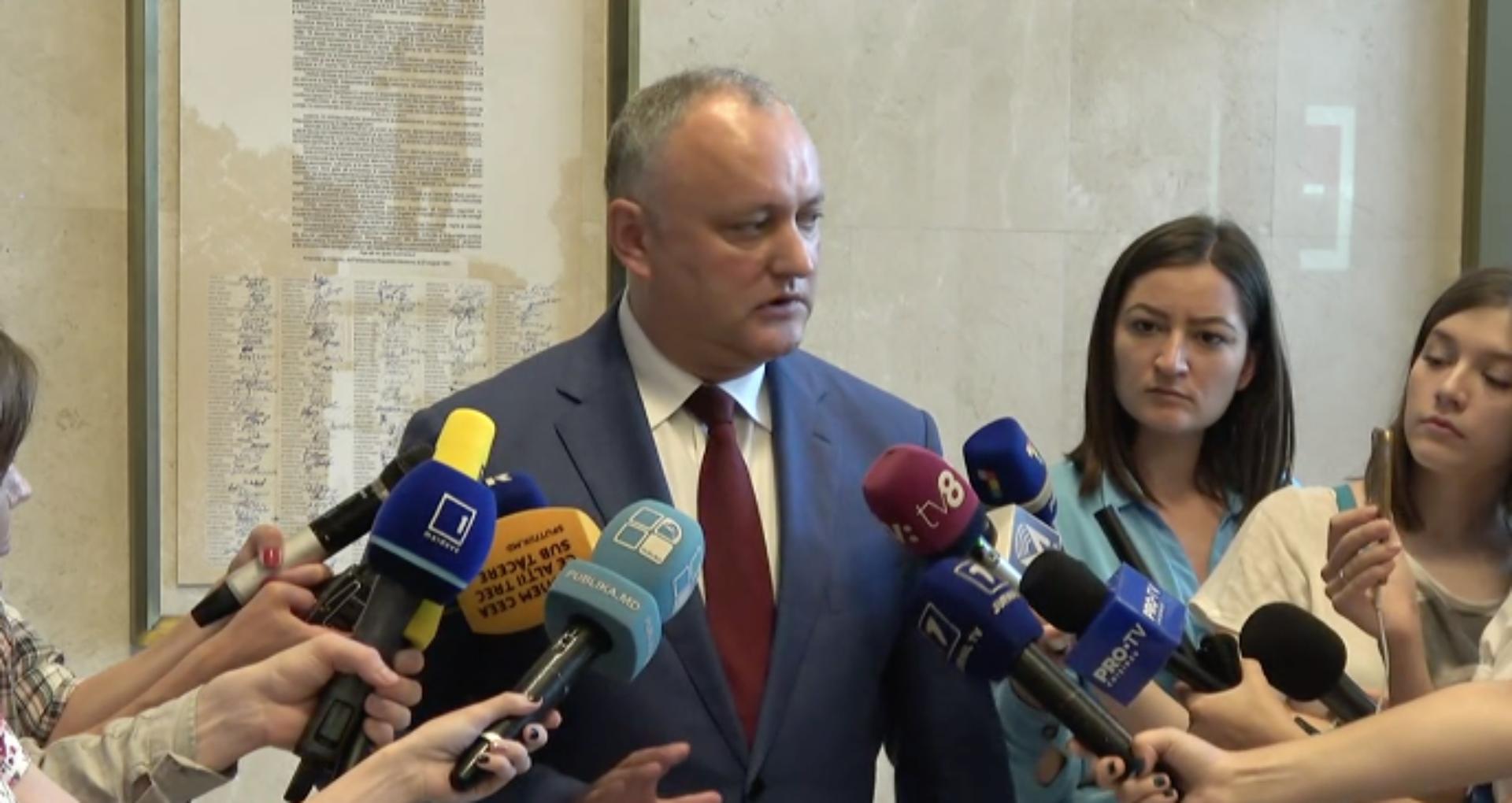 VIDEO/ Igor Dodon enunță două soluții în situația creată