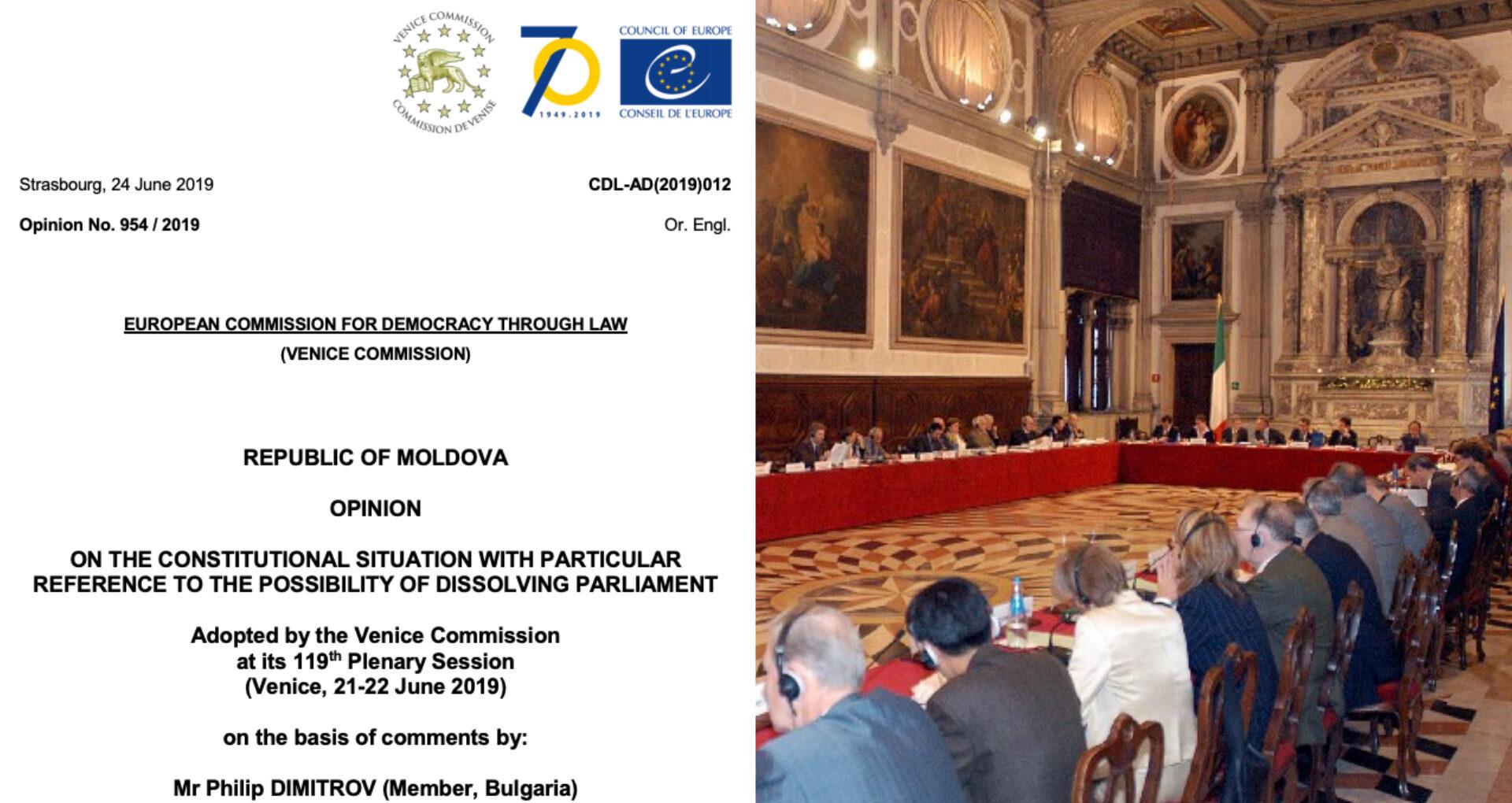 DOC/ Avizul integral al Comisiei de la Veneția: instabilitatea a fost cauzată de acțiunea coordonată la viteza luminii între PDM și CC