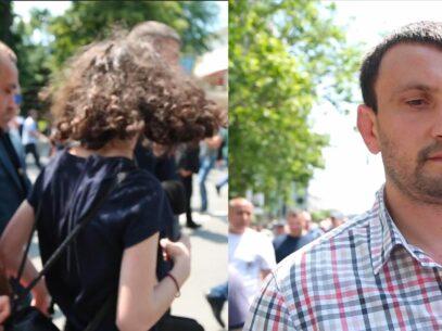 VIDEO/ Comportament de democrat. Reportera ZdG, bruscată de un ex-deputat PDM și de un protestatar