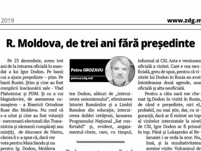 R. Moldova, de trei ani fără președinte