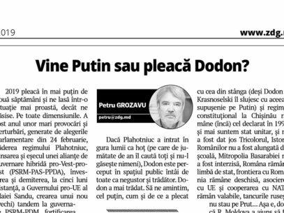 Vine Putin sau pleacă Dodon?