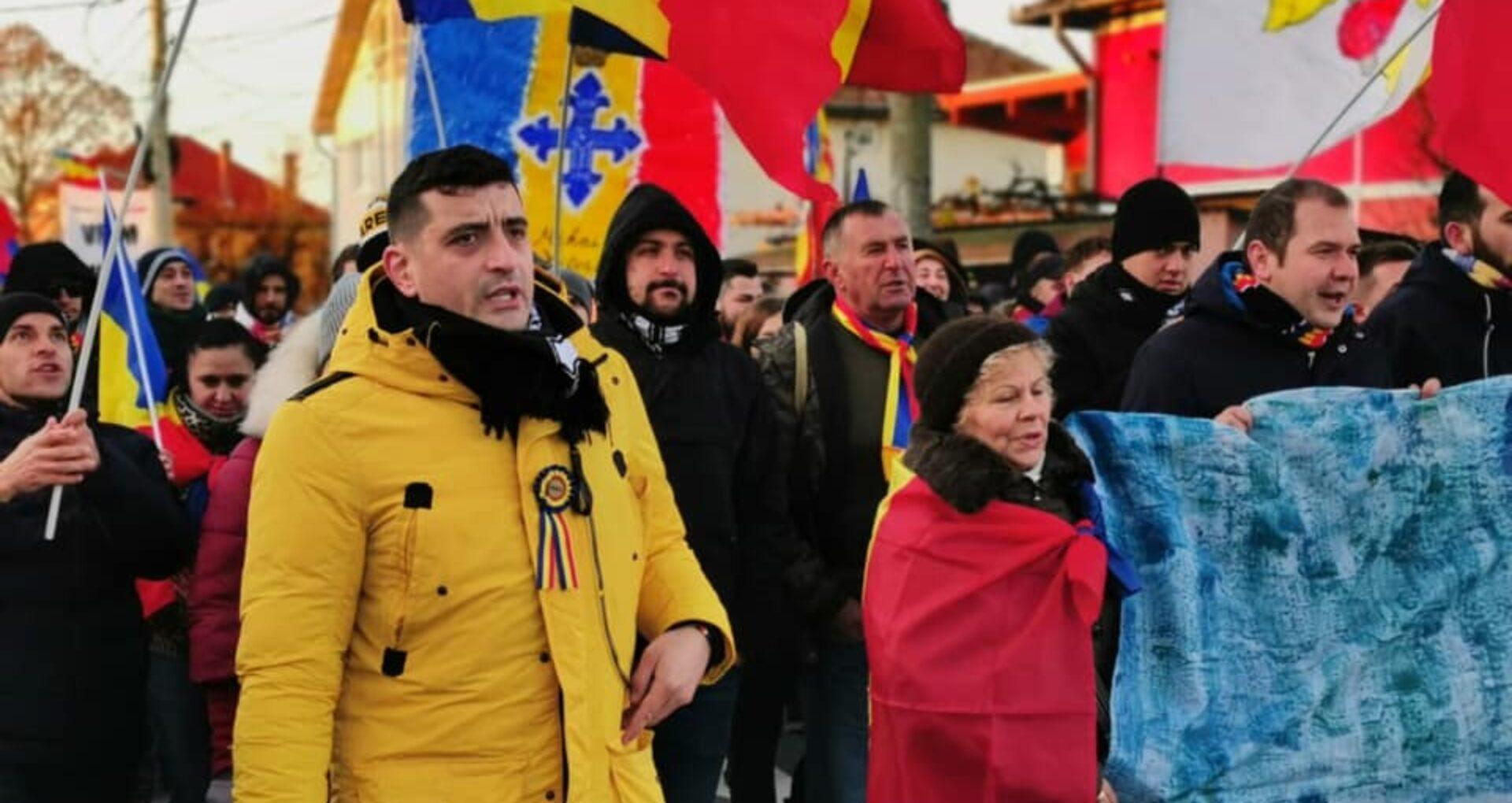 FOTO/VIDEO. La Alba Iulia s-a lansat un nou partid unionist în frunte cu  George Simion: Alianța pentru Unirea Românilor