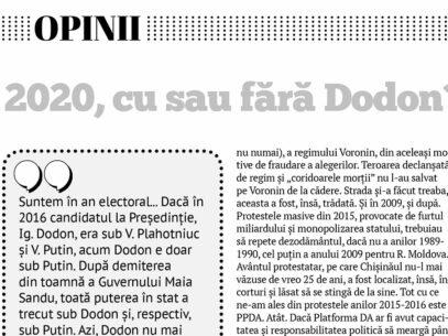 2020, cu sau fără Dodon?