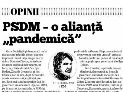 """PSDM – o alianță """"pandemică"""""""