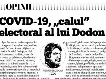 "COVID-19, ""calul"" electoral al lui Dodon"