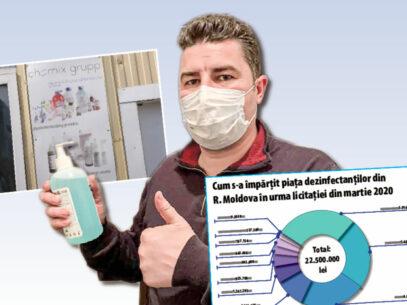 DOC/ Lupte, criză și interese socialiste pe piața dezinfectanților
