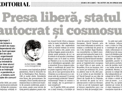 Presa liberă, statul autocrat și cosmosul