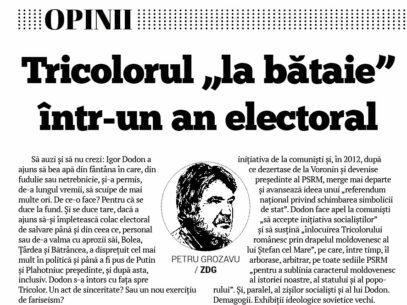 """Tricolorul """"la bătaie"""" într-un an electoral"""