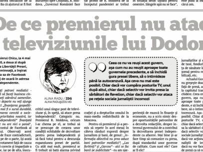 De ce premierul nu atacă televiziunile lui Dodon