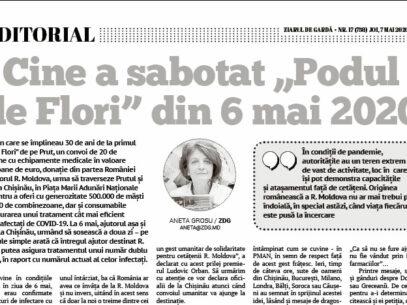 """Cine a sabotat """"Podul  de Flori"""" din 6 mai 2020"""