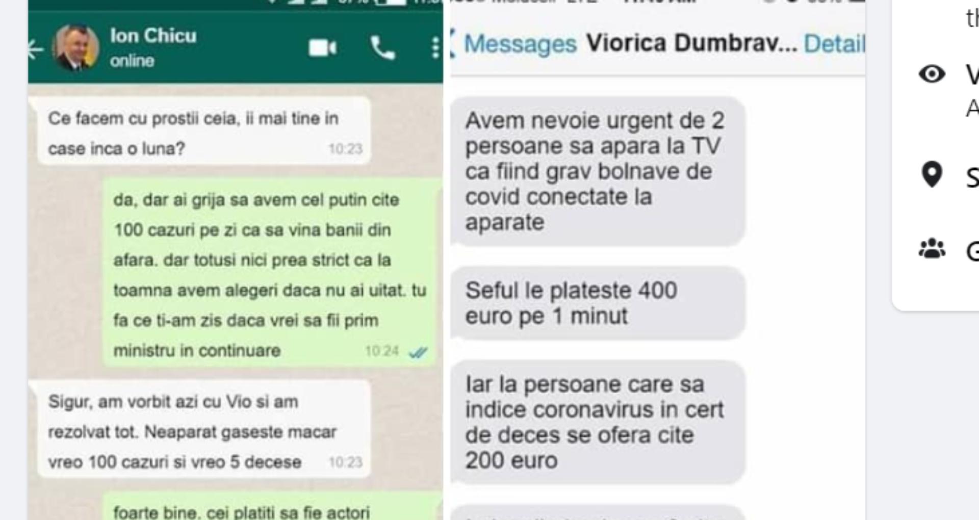 """Mesaje false cu numele premierului și al ministrei Sănătății, distribuite de zeci de mii de persoane pe rețelele de socializare. Dragancea: """"Noi cu cetățenii avem comunicare și fără voi, fiindcă nu tot timpul vă credem"""""""