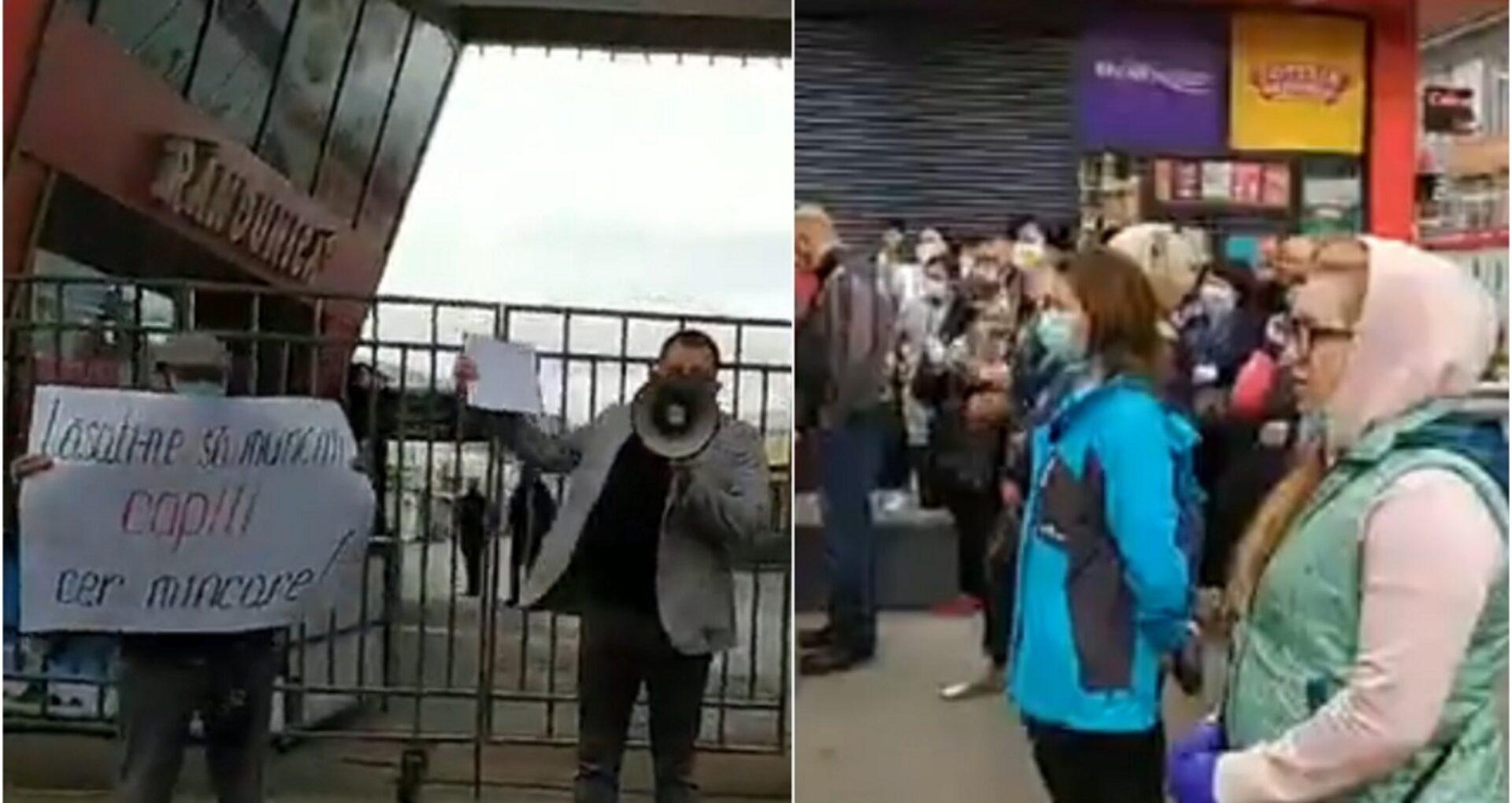 """VIDEO/ Comercianții de la Piața Centrală au ieșit, din nou, la protest: """"Ne-a scos în stradă situația grea"""""""