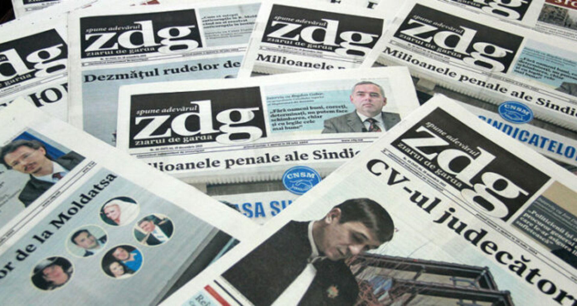 Declarație ZdG privind preluarea materialelor de autor