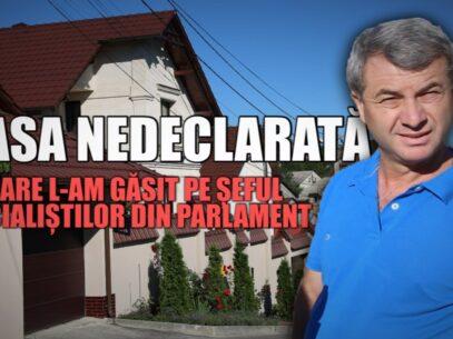 """Casa cu trei niveluri, """"nefinisată"""" și nedeclarată, în care l-am găsit pe șeful socialiștilor din Parlament"""