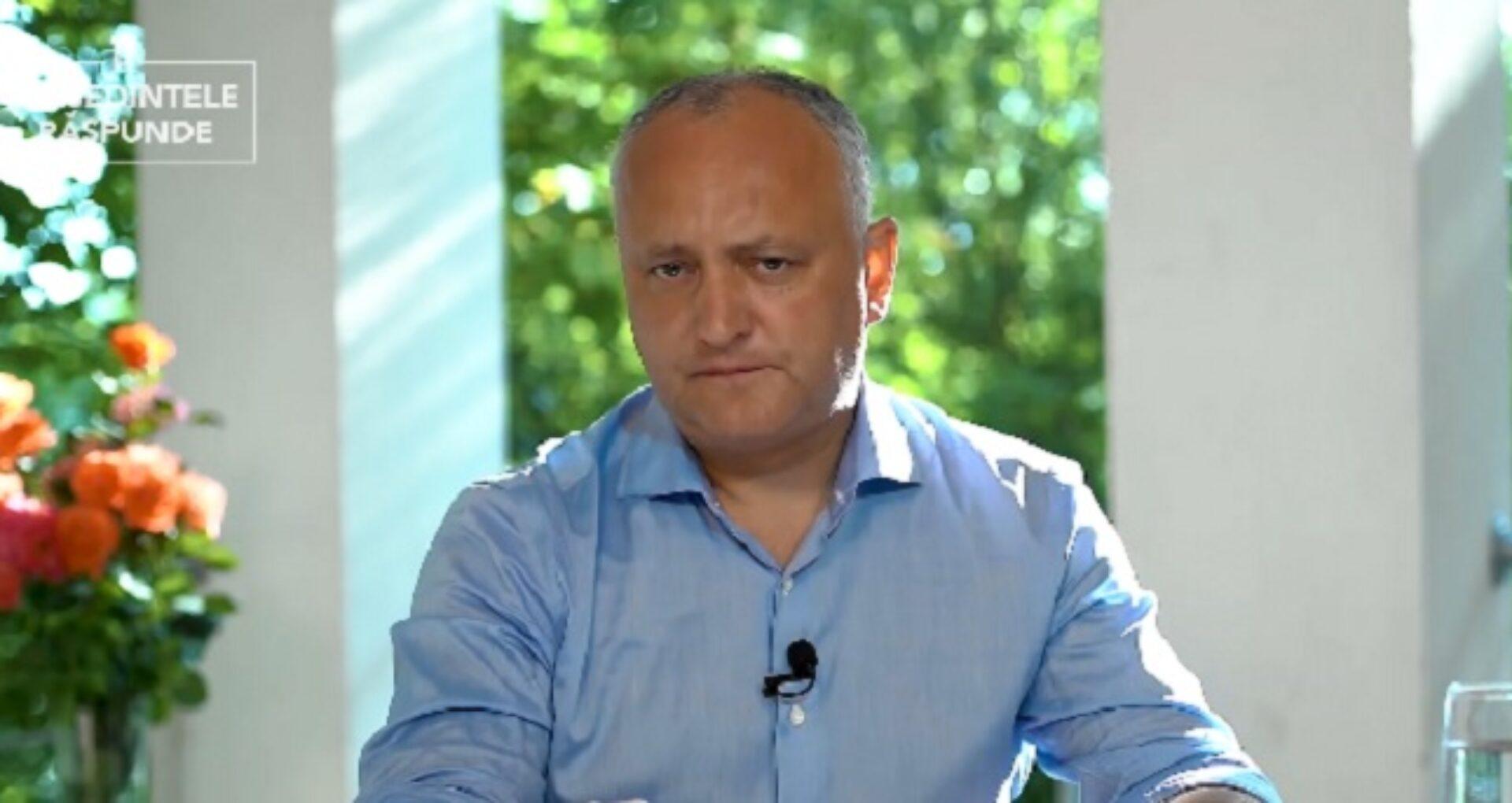 """Dodon anunță că Ștefan Gațcan, împreună cu familia, a părăsit R. Moldova: """"Se temea, mi-a cerut ca paza de stat să-l însoțească până la ieșirea din țară"""""""
