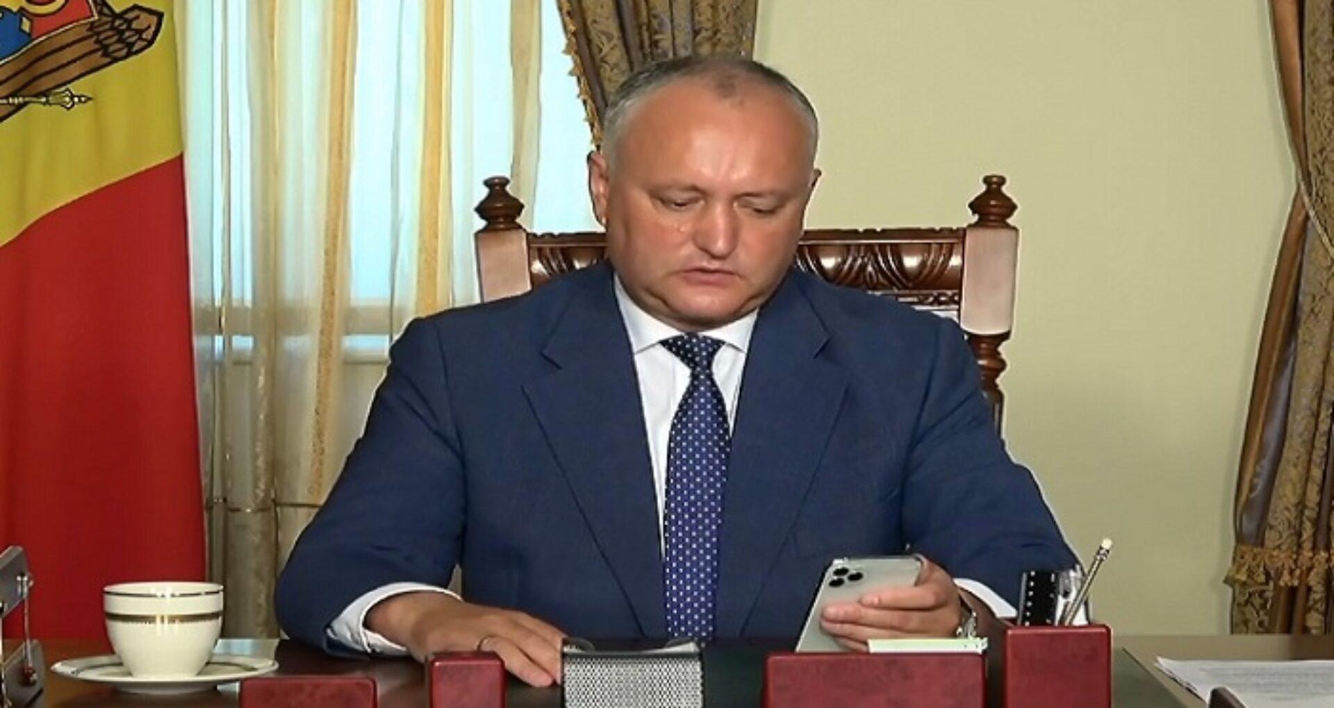 """Dodon, despre prezidențiale: """"Cu votul în străinătate va fi dificil. Cel mai probabil votul va fi doar în interiorul R. Moldova"""""""