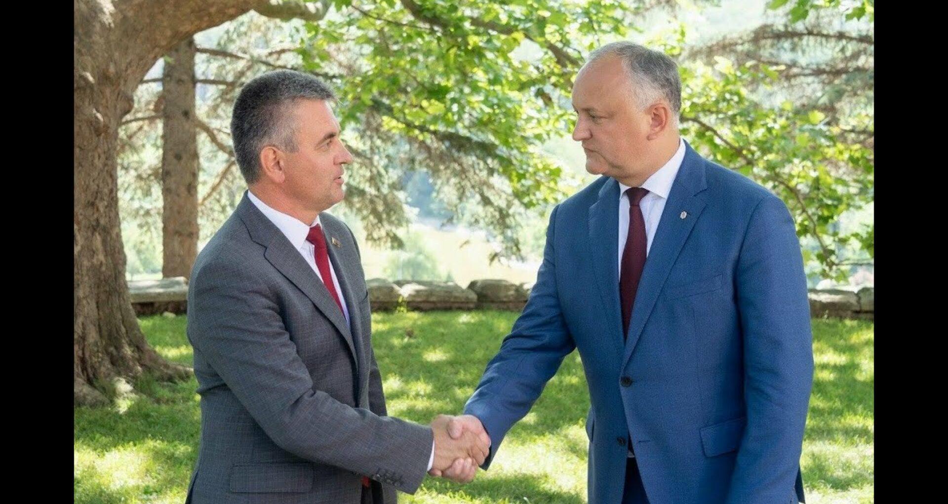 """Cum justifică Președinția faptul că Igor Dodon l-a numit pe Vadim Krasnoselski """"președintele Transnistriei"""""""
