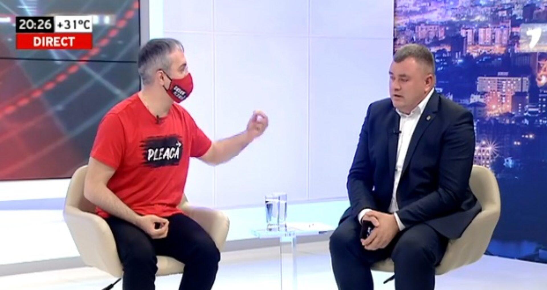 """Replici acide între Sîrbu și Novac în cadrul unei emisiuni TV: """"Luați Covid-ul acesta politic de lângă mine"""""""