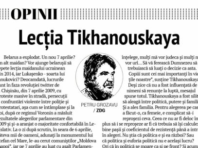 Lecția Tikhanouskaya