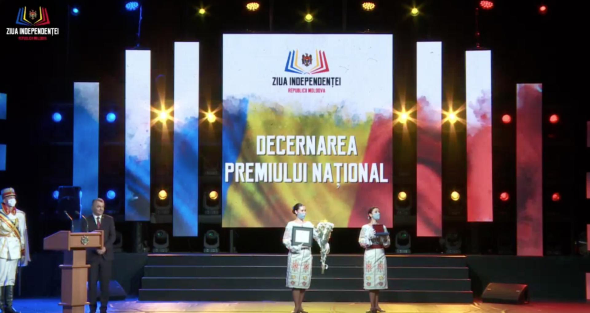 Cabinetul de miniștri a aprobat lista laureaților din anul curent a Premiului Național. Câștigătorii vor primi o recompensă financiară de 100 mii de lei
