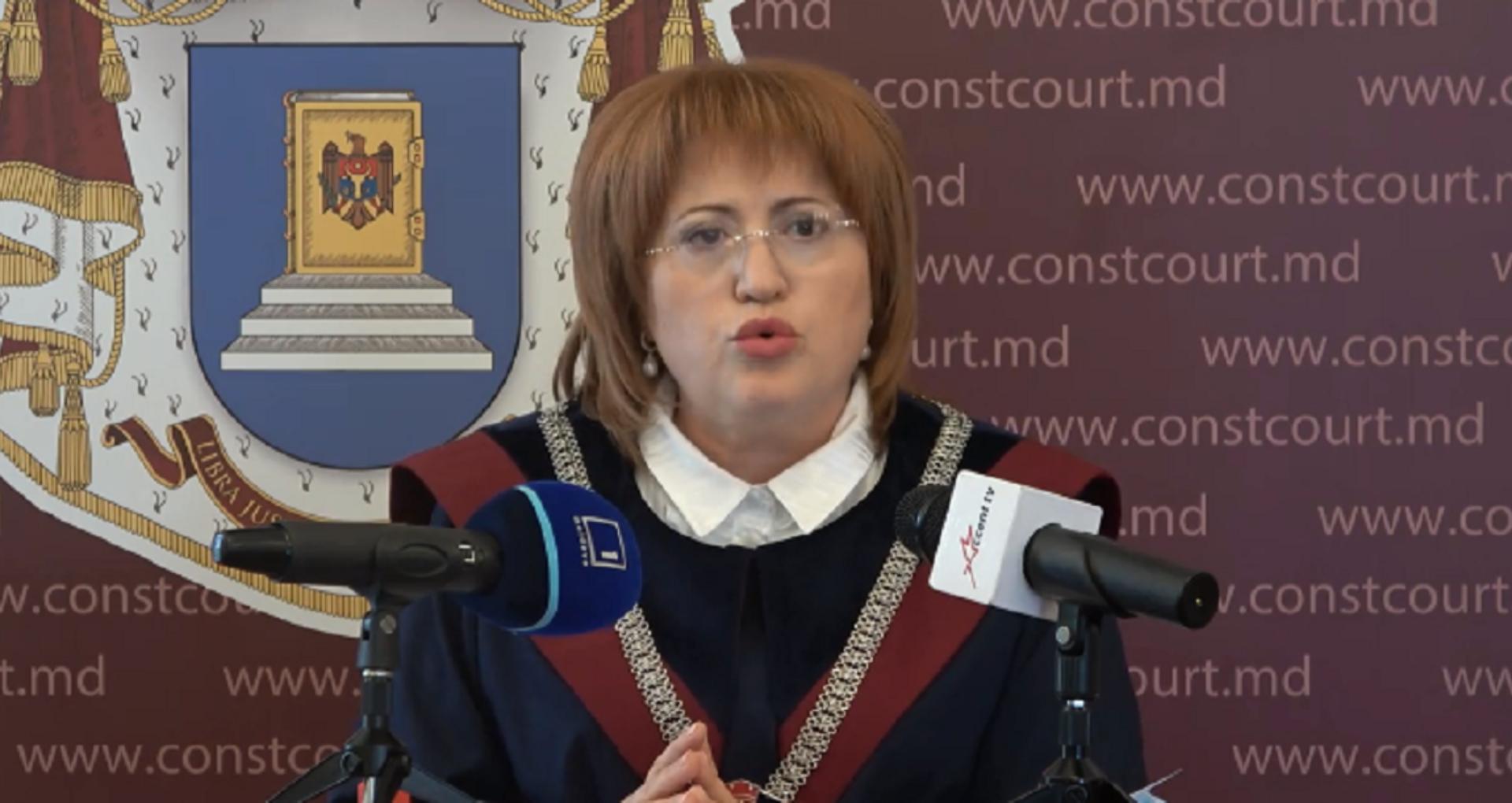 LIVE/ Domnica Manole explică decizia CC prin care decretul de desemnare repetată a Nataliei Gavrilița la funcția de premier a fost declarat neconstituțional