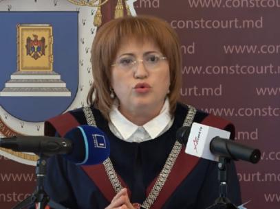VIDEO/ Declarațiile Președintei CC, după ce a fost declarată neconstituțională legea privire la statutul special pentru limba ruse
