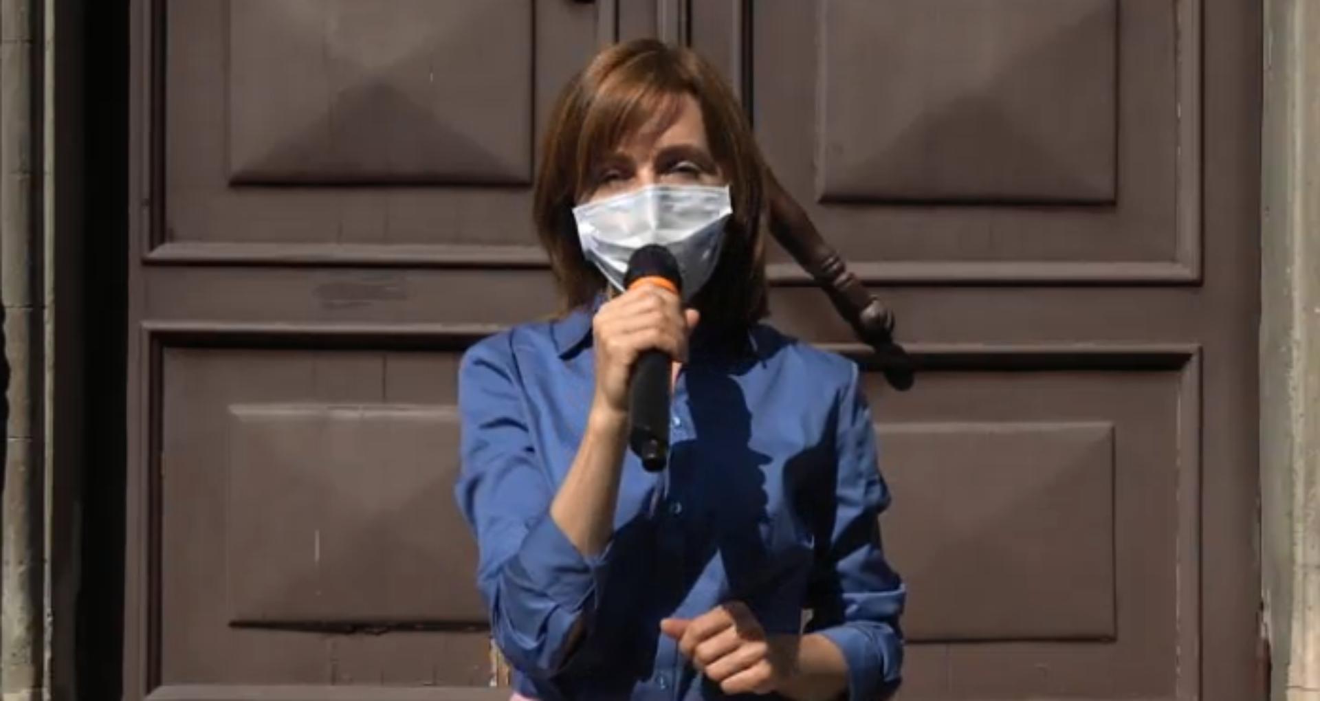 """LIVE/ Maia Sandu depune listele cu semnături. Susținătorii PAS cer de la CEC """"decizii corecte"""""""