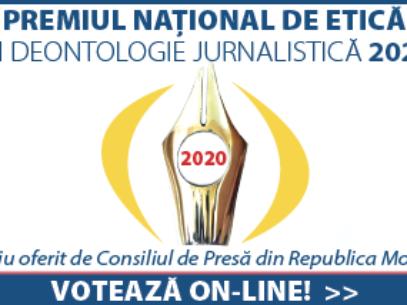 """Start vot pentru """"Premiul Naţional de Etică și Deontologie jurnalistică 2020"""". 2 jurnaliști de la Ziarul de Gardă în lista pretendenților"""