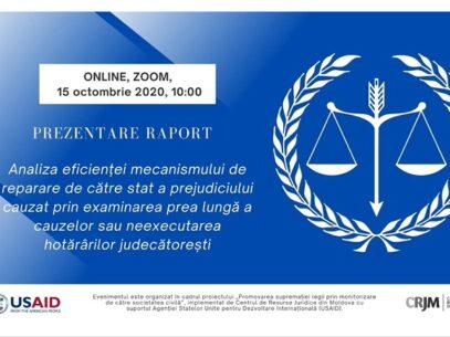 """LIVE/ """"Cât ne costă justiția întârziată?"""". Centrul de Resurse Juridice prezintă un raport în acest sens"""